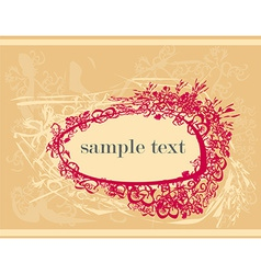 abstract frame with space for your text vector image vector image