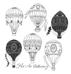 Air Balloons Backgr-06 vector image