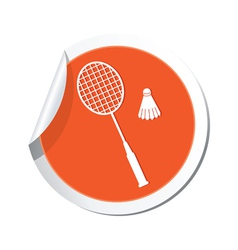 Badminton ORANGE LABEL vector