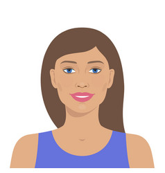 Beautiful woman avatar vector