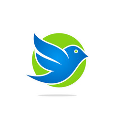 Bird flying icon logo vector