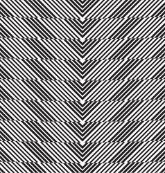 Black and white alternating chevron cut vector