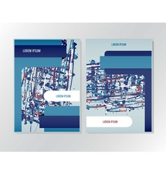 Booklet brochure flyer design vector image