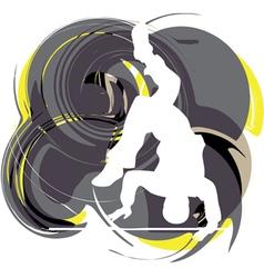 Breakdancer dancing on hand stand vector image vector image