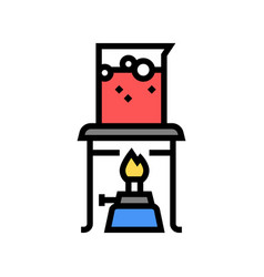 burner boiling chemical liquid color icon vector image