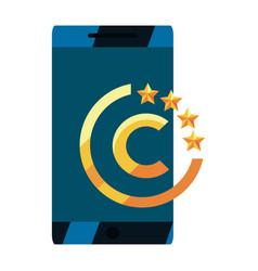 Cellphone copyright of intellectual vector