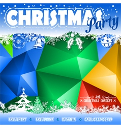 Christmas mosaic pattern vector