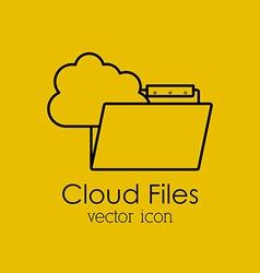 Cloud files design vector