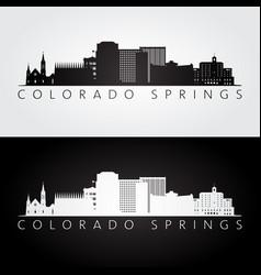 colorado springs usa skyline and landmarks vector image