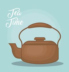 colorful teapot kitchen design vector image