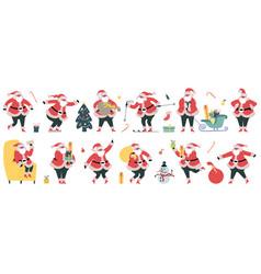 cute santa claus christmas winter holidays vector image