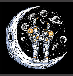 Dating on moon vector