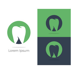 dental logo tooth in circle icon vector image