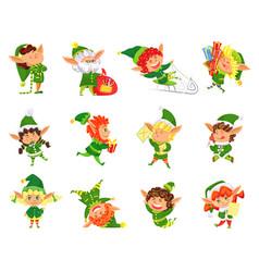 elf winter season helper of santa claus vector image