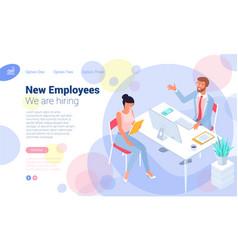 Employee hiring interview concept vector