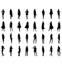 fashion girl silhouette vector image