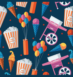 Festive food and sweets seamless pattern icecream vector