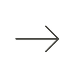 forward icon right arrow line next symbol vector image