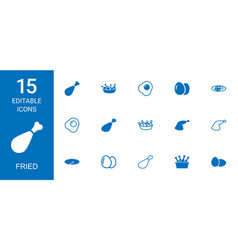 fried icons vector image