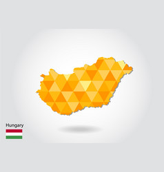 geometric polygonal style map of hungary low poly vector image