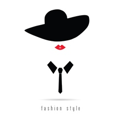 Girl fashion icon with hat vector