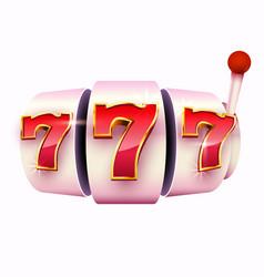 Golden slot machine wins jackpot 777 big win vector