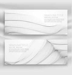 great wave banner template set in modern style vector image