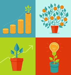 growth concepts in flat style vector image