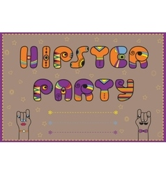 Hipster Party Funny invitation vector image