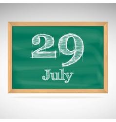 July 29 day calendar school board date vector