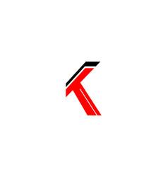 k letter stylized logo vector image