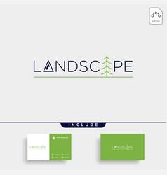 Landscape logo text design symbol icon vector