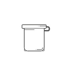 Line jar of childrens gouache vector
