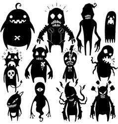 Little Monsters set 002 vector