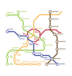 map metro template highspeed subway vector image