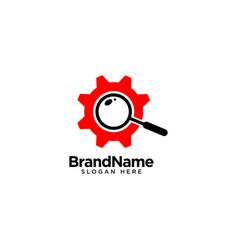 Mechanical search logo design inspiration vector