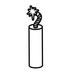 Mine dynamite icon outline style vector