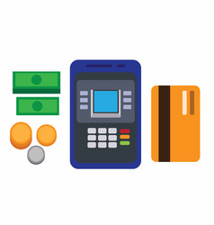 mobile banking flat vector image