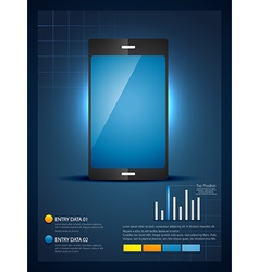 Mobile phone infograhic template vector