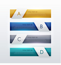 modern four steps infographic template design vector image