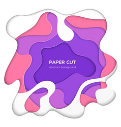 Multicolored abstract layout - paper cut vector