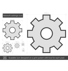 Network settings line icon vector image