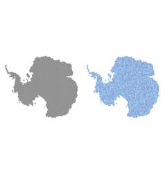 pixel antarctica map abstractions vector image