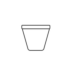 plant jar icon vector image