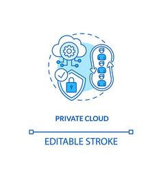 Private cloud concept icon vector