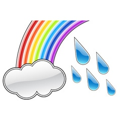 rainbow cloud vector image