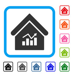 Realty charts framed icon vector