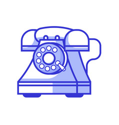 retro phone with rotary dial icon vector image