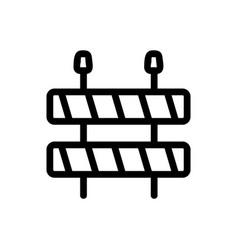 Roadworks icon isolated contour symbol vector