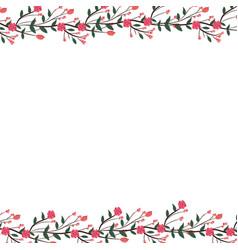 roses arrangement frame vector image
